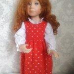 Сарафан для куклы Крюгер в стиле Бохо.
