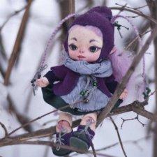Авторская шарнирная кукла Улита.