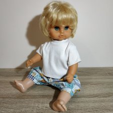 Biggi немецкая винтажная кукла малыш на согнутых ножках