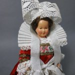 Petitcollin. Винтажная Целлулоидная Кукла в Национальной Одежде. Франция
