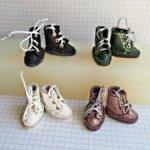 Кожаные ботиночки для барби пышек