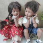 Фарфоровые ребятишки от Gloria Livy, 1994