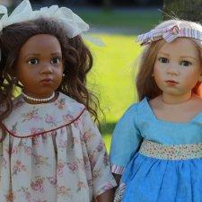 Авторские куклы Lschina и Tamina от Elisabeth Lindner
