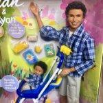 AA Happy Family Alan & Rayan / Шарнирный Кен Алан и малыш Райан афро