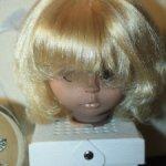 Кукла ГДР . Волосы для перепрошивки куклы ГДР.
