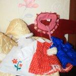 Лот винтажной одежды для  кукол ГДР и СССР ростом от 50 см до 60 см