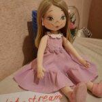 Куколка текстильная ручная раббота