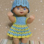 Пупс-улыбашка в голубом наряде