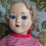 Кукла СССР пресс-опилки 40 см Загорск?