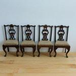 Винтажные  деревянные стулья. Масштаб 1:12