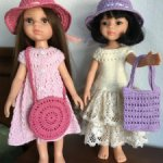 Шляпки и сумочки для кукол 30см. Paola Reina