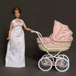 Розовая кукольная коляска для Барби, для малыша 11 см