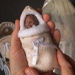 Конверт зимний с мехом для куклы ростом до 10 см