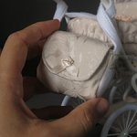 Сумочка для кукольной коляски 1:6