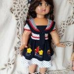 Наряд на лето для кукол 65-80 см.