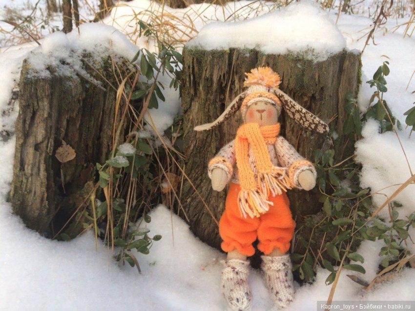 Зайчик Перси на прогулке в лесу