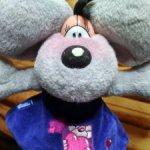 Мышь Diddle (Diddlina) в синем платье с сердечками