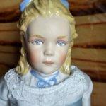 Фарфоровая портретная кукла Алиса Рузвельт от Kathy Redmond. 1990 год.