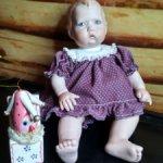 Мери, авторская кукла от Linda Steele. 1987 год. Под реставрацию.