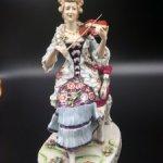 Фарфоровая статуэтка Скрипачка. Италия. Ранний Ginori.