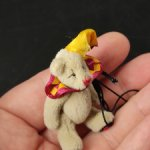 Мишка Кроха от Ganz. 6 см. Миниатюра