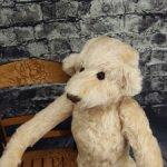 Мишка от Barbara McConnel. 36 см. Мохер. Розовый беж.