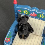 Чёрный в крапинку мишка от Chu-Ming Wu . 3,5 см. Миниатюра.