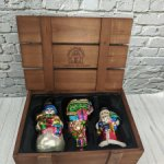 Стеклянные ёлочные игрушки от Thomas Pacconi. 3 штуки. 14 см