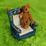 Мишка-брошь Рыжий от World Of Miniature Bears. 5,5 см