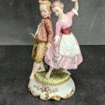 Фарфоровая статуэтка Танцоры. Каподимонте. Capodimonte.