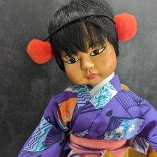 Деревянная авторская кукла Японка от Patti Hale. NIADA. 1986 год