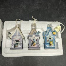 """Набор ёлочных игрушек """"Скворечники"""" от Bradford. Фарфор"""