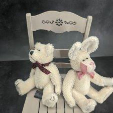 Белый Мишка и Белый Кролик от Boyds Bears Co. Цена за пару!