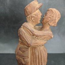 """Деревянная авторская статуэтка """"Танцоры"""". 25 см"""