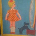 Бумажная кукла Аленка 1982г.