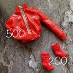 Куртка и сапожки для куколок формата 1:6