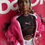 Барби Пума афроамериканца Barbie Puma Doll Dark-Haired, НРФБ