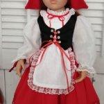 Наряд Красной Шапочки для куклы Готц (48-50см)