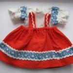 Костюм для куклы Марьи  (Сарафан + нижнее платье)