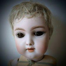Парик из акриловой пряжи для антикварной куклы Handwerck