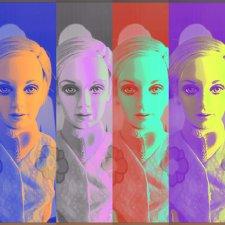 Виниловая портретная кукла Twiggy от Franklin mint - фотообзор