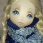 Авторская , текстильная кукла.