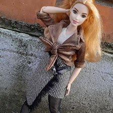 Выкройки одежды для Барби пышки