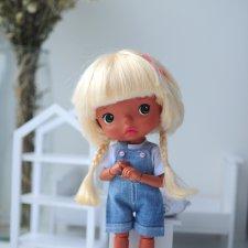 Джинсовые комбинезоны для Monst doll,Mzzm doll,Holala doll
