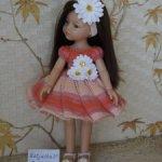 """Нарядное платье """"Ромашка"""" для кукол Paola Reina и им подобных."""