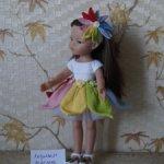 """Платье """"Акварельки"""" для кукол Paola Reina и им подобных."""