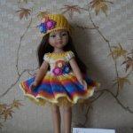 Платье для кукол Paola Reina и им подобных.
