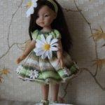 """Платье """"Ромашка"""" для кукол Paola Reina и им подобных."""