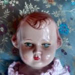Куколка старенькая из целлулоида