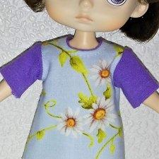 МК «Цельнокройное платье с втачным рукавом для кукол XIAOMI MONST». Часть 2